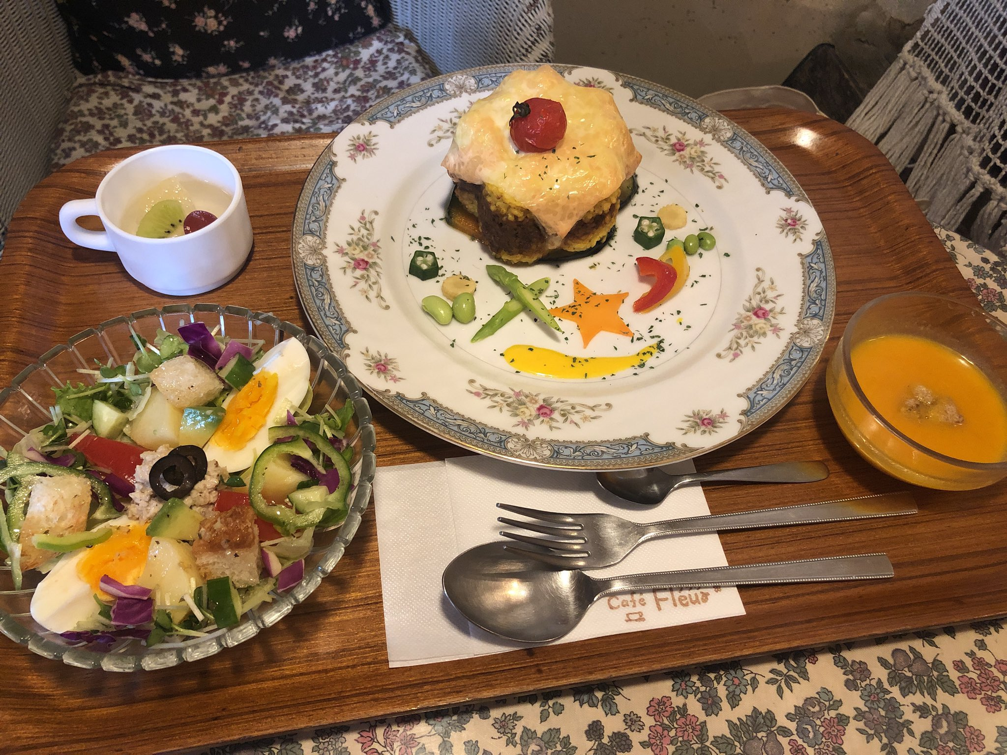 Cafe Fleurの週替わりランチ